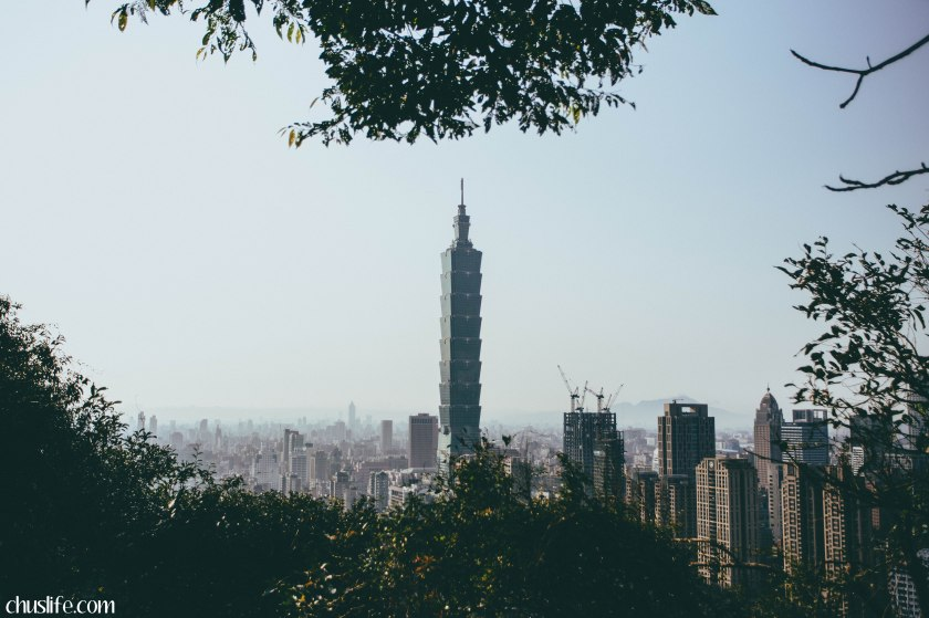 View of Taipei 101 from Elephant Mountain 象山.