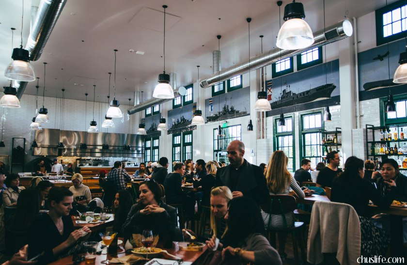 Mess hall: in-house restaurant with a constantly changing menu, showcasing all that the market's artisans have to offer