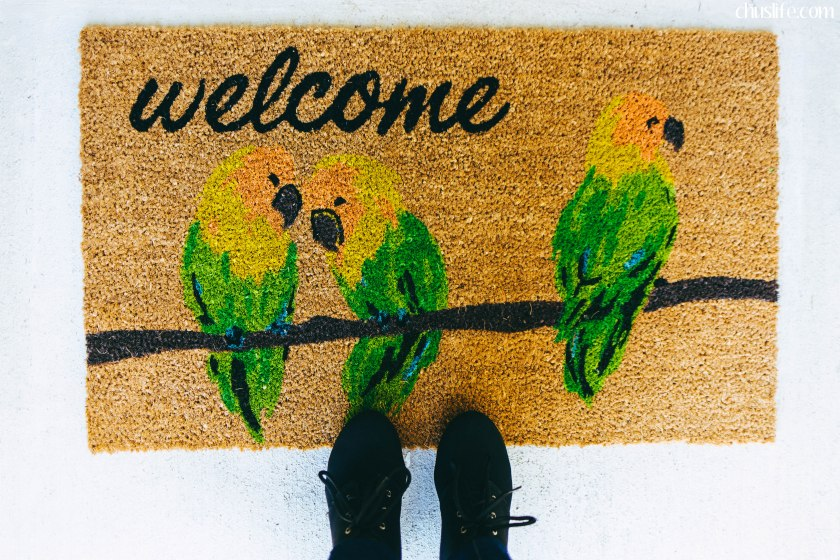 A welcome mat upon which our visitors can shed their burdens, come in, and feel sheltered.
