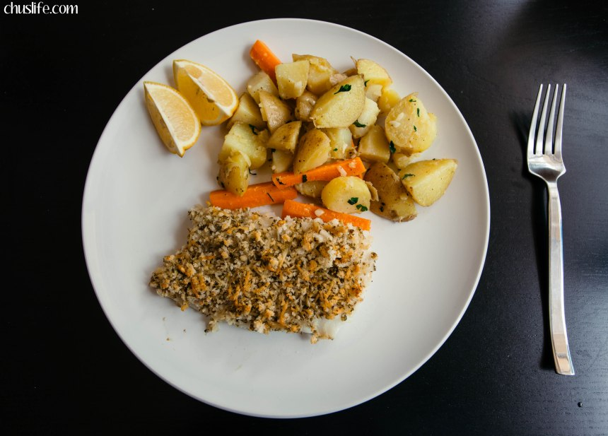 Final meal: panko crusted cod with potatoes
